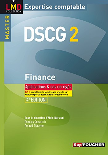 DSCG 2 Finance applications et cas corrigés 4e édition