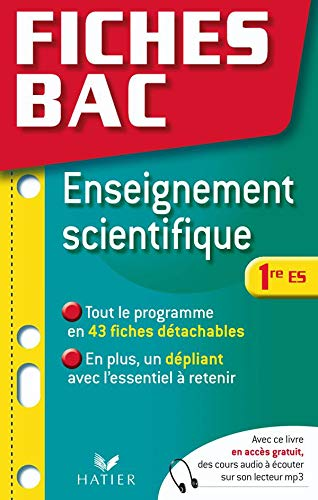 Enseignement scientifique 1e ES