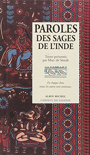Paroles des sages de l'Inde