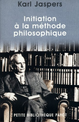Initiation à la méthode philosophique