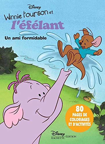 Winnie l'ourson et l'éfélant Coloriage : Un ami formidable