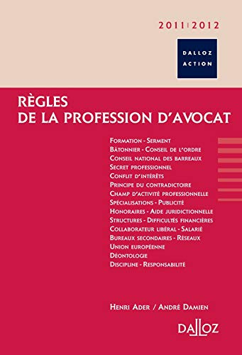 Règles de la profession d'avocat 2011/2012