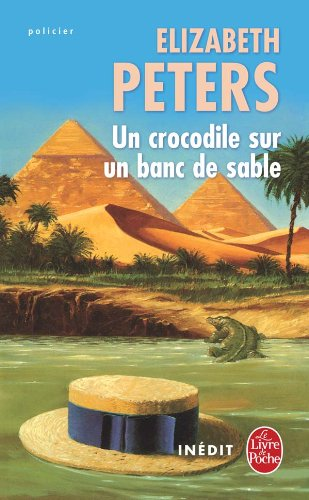 Un crocodile sur un banc de sable