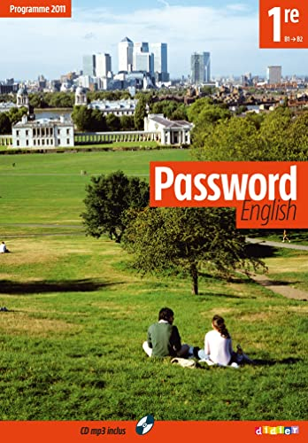 Anglais 1re B1-B2 Password english (1CD audio MP3)