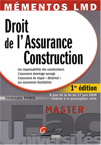 Droit de l'Assurance Construction
