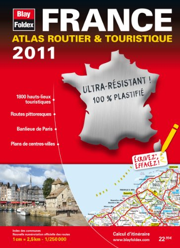 2011 Atlas Routier plastifié France