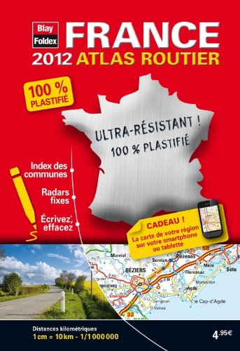 France, Mini Atlas Routier Plastifié - Edition 2012 - Echelle : 1/1 000 000