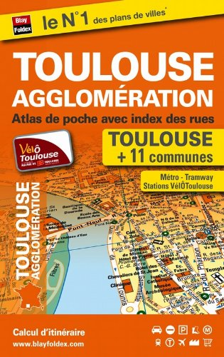 Atlas de poche de Toulouse et de son agglomération (plans de 12 communes)