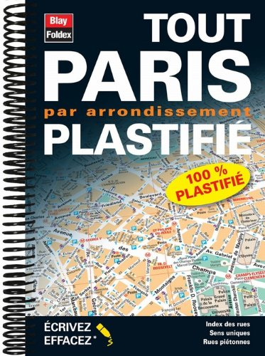 Plan de Paris par Arrondissement Plastifié