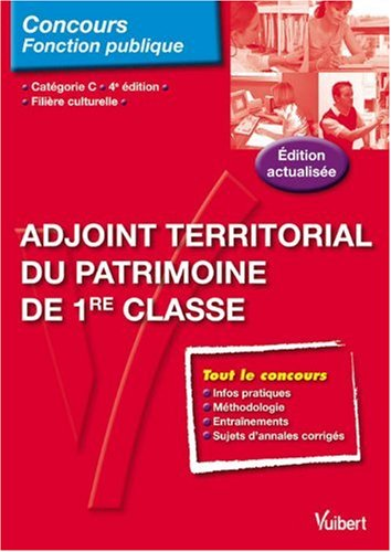 adjoint territorial du patrimoine de 1re classe   cat u00e9gorie c  fili u00e8re culturelle - detail