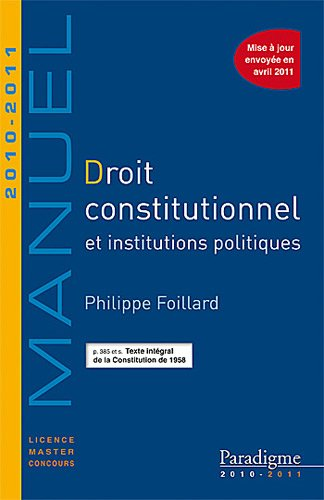 Droit constitutionnel 2010-2011
