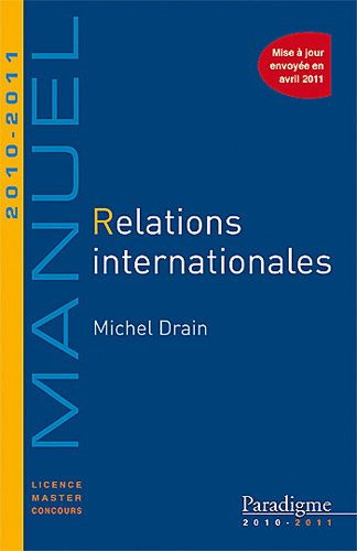 Relations internationales 2010-2011