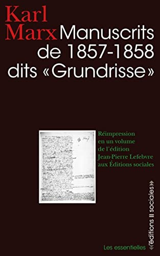 Manuscrits de 1857 - 1858 dits