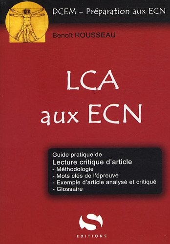 Lecture critique d'article (LCA) aux ECN