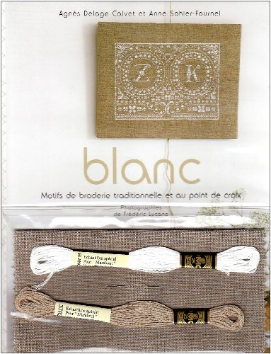 Blanc : Broderie traditionnelle au point de croix