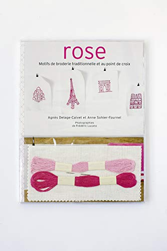 Rose : Motifs de broderie traditionnelle et au point de croix