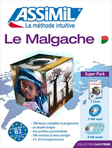 Le Malgache: livre + 4 CD audio + 1 CD mp3