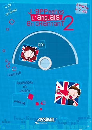 J'apprends l'anglais en chantant - niveau 2 ; Album + 2 CD Audio