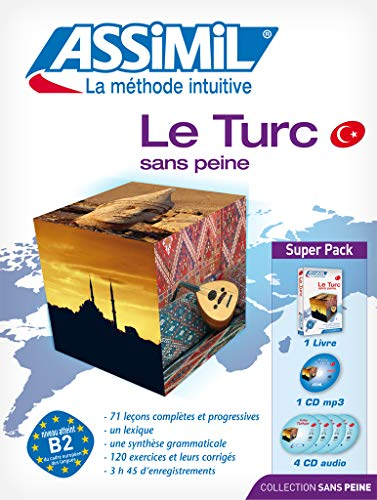 Le Turc sans peine : Super Pack 1 livre+ 1 CD Mp3 + 4 CD Audio