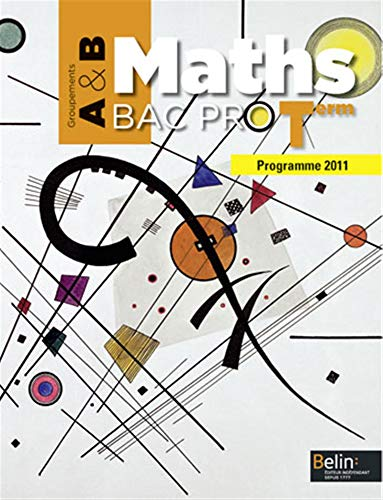 Maths Tle Bac pro : Groupements A & B, programme 2011 (1Cédérom)