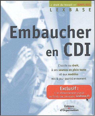 Embaucher en CDI