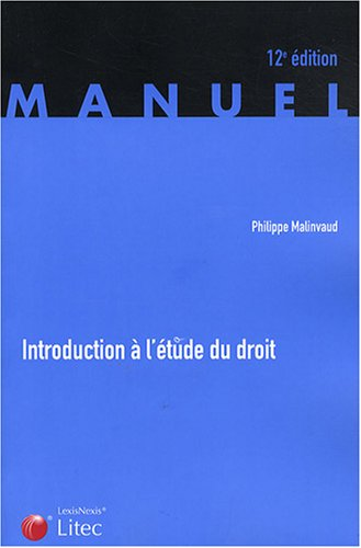 Introduction à l'étude du droit