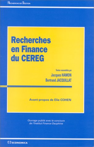 Recherches en finance du CEREG
