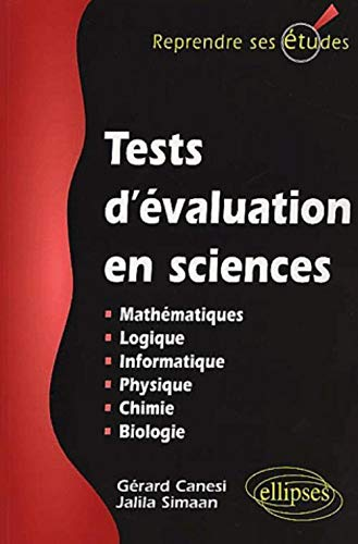 Tests d'évaluation en sciences