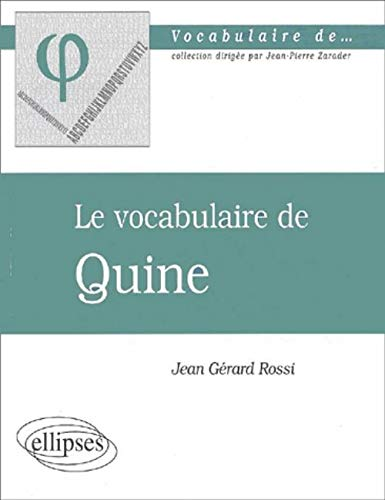 Le vocabulaire de Quine