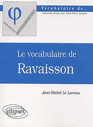 Le vocabulaire de Ravaisson