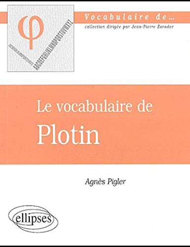 Le vocabulaire de Plotin