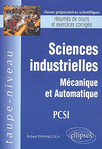 Sciences industrielles PCSI