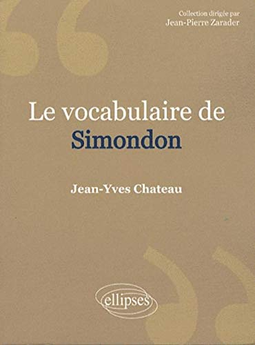 Le vocabulaire de Gilbert Simondon