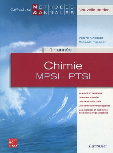 Chimie MPSI-PTSI 1re année