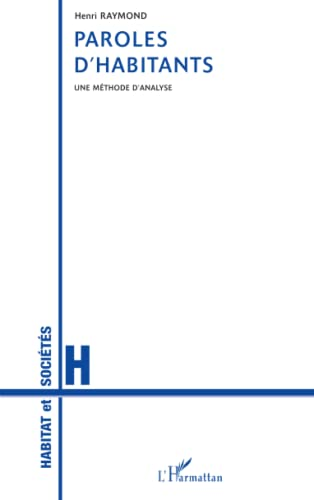 Paroles d'habitants. une methode d'analyse