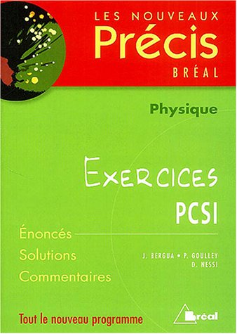Physiques PCSI : Exercices
