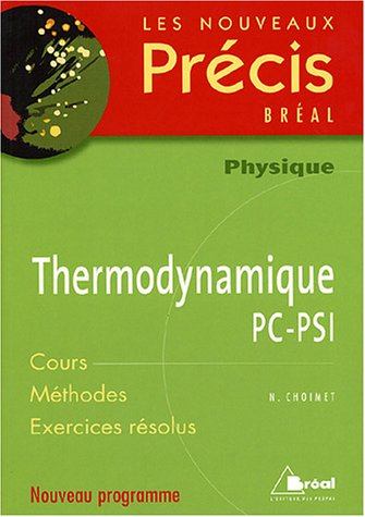 Thermodynamique PC-PSI