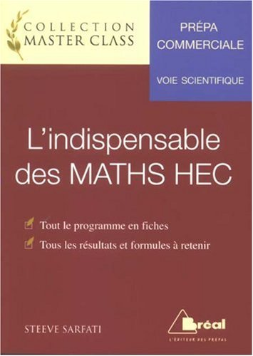 L'indispensable des MATHS HEC