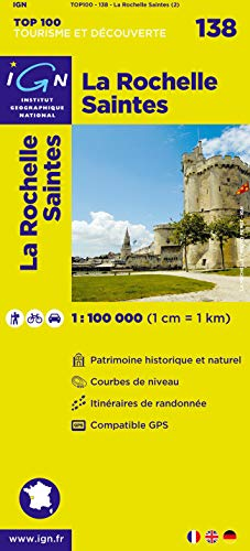 Top100138 la Rochelle/Saintes 1/100.000