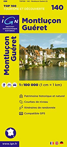 Top100140 Montlucon/Gueret 1/100.000