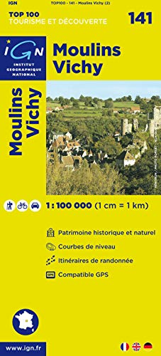 Top100141 Moulins/Vichy 1/100.000