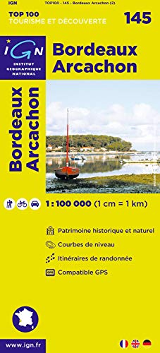 TOP100145 BORDEAUX/ARCACHON  1/100.000