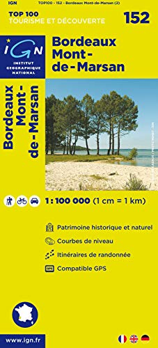 TOP100152 BORDEAUX/MONT-DE-MARSAN  1/100.000