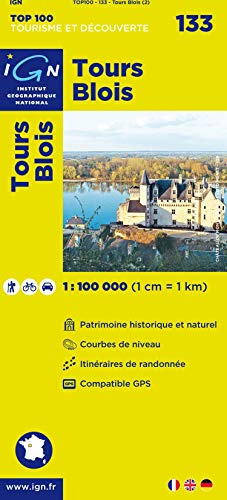 TOP100133 TOURS/BLOIS  1/100.000