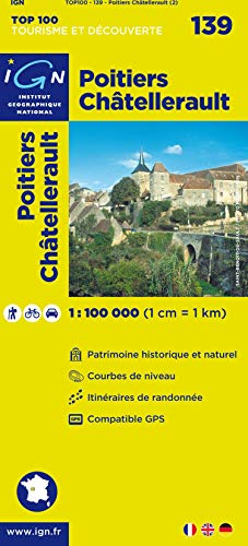 TOP100139 POITIERS/CHATELLERAULT  1/100.000