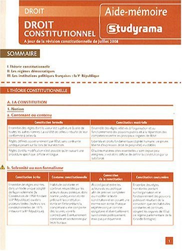 Droit Constitutionnel 2ed
