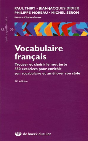 Vocabulaire français