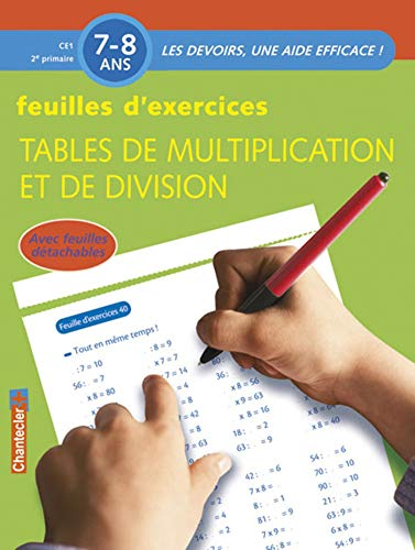 Feuilles d'exercices : tables de multiplication et de division