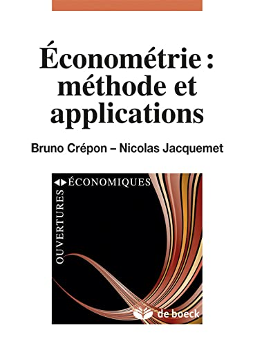 Econometrie: Méthode et Applications