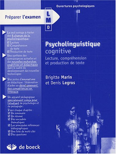 Psycholinguistique cognitive : Lecture, compréhension et production de texte
